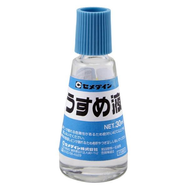 CEMEDINE セメダイン うすめ液 30mL HL-111 | 有機溶剤 金属面 脱脂 速乾ニス 希釈 汚れ落とし