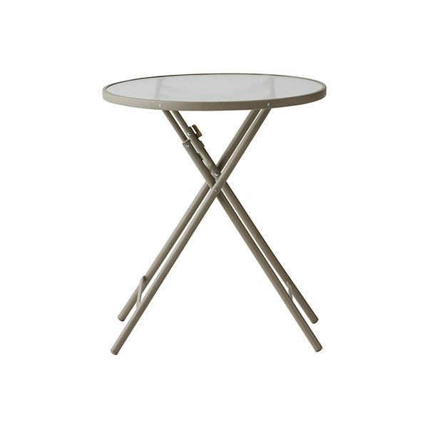 PATIO PETITE プチ ビアンカ PETITE BIANCA | テーブル 机 折りたたみテーブル ガラス天板 おしゃれ サイドテーブル コンパクト カフェ ガーデン バルコニー