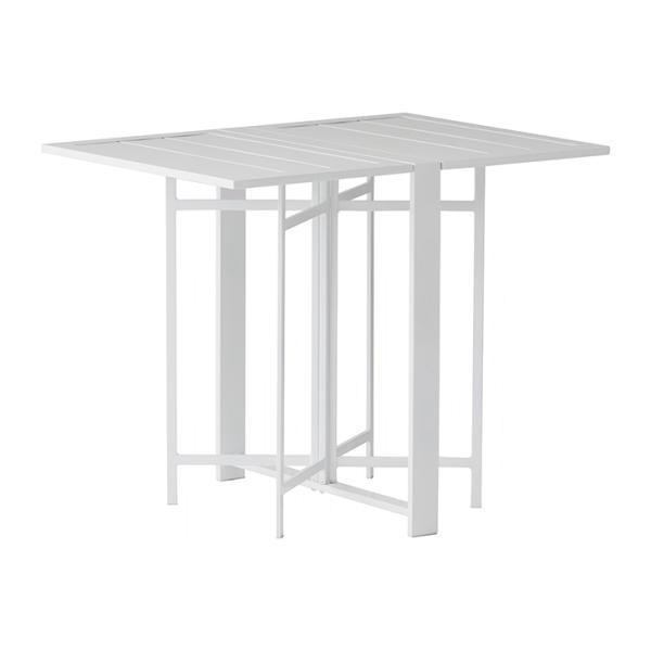 PATIO PETITE ステラ STELLA | テーブル 机 折りたたみテーブル バタフライテーブル 白 ホワイト おしゃれ サイドテーブル コンパクト収納 ガーデン バルコニー