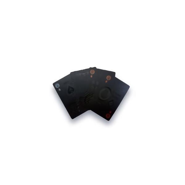 TRI PLAYING CARDS BLACK SLW144 | トランプ カード カードゲーム ゲーム プラスチック ブラック 黒 プレイングカード PVC素材 ポーカー カジノ 大富豪 手品