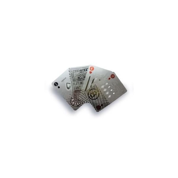 TRI PLAYING CARDS SILVER SLW145 | トランプ カード カードゲーム ゲーム プラスチック シルバー 銀 プレイングカード PVC素材 ポーカー カジノ 大富豪 手品