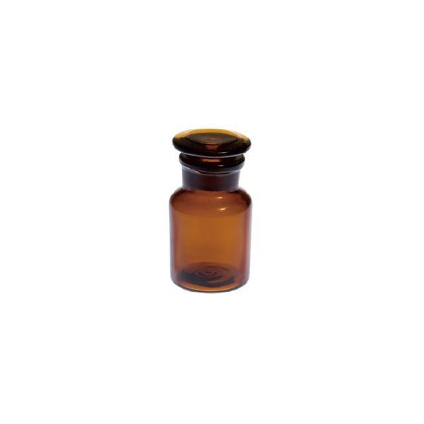 メディシンボトル アンバー ガラス 直径4.5 2.5 H9cm|desirdevivre-zacca