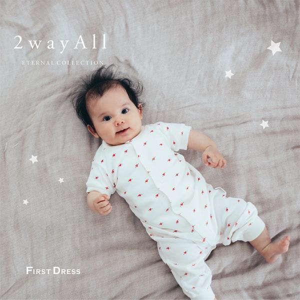 ece84a051b706  新柄 ファーストドレス 2wayALL ツーウェイオール 半袖 リブ 春夏 男女兼用 新生児