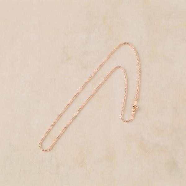ピンクゴールド チェーン あずきチェーン 1.3mm幅 レディース 18K 18金 PG プレゼント DEVAS ディーヴァス