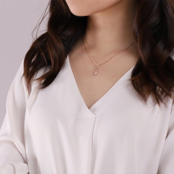 ピンクゴールド チェーンネックレス 幅1.6mm スクリュー K18 PG  18k 18金 女性 レディース ネックレス ロング|devas|08