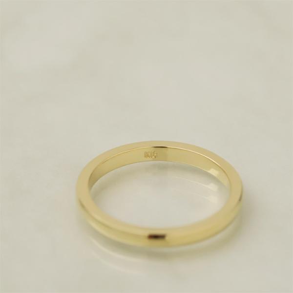 レディース リング K18ゴールド  リング 甲丸リング 2mm幅 18k 18金 ジュエリー シンプル レディース メンズ 指輪