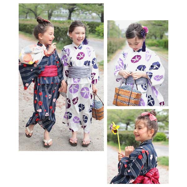 子供服 浴衣 キッズ 韓国子供服 devirock 浴衣 兵児帯 2点セット 女の子 浴衣 甚平 全10色 100-160  M1-1|devirockstore|11