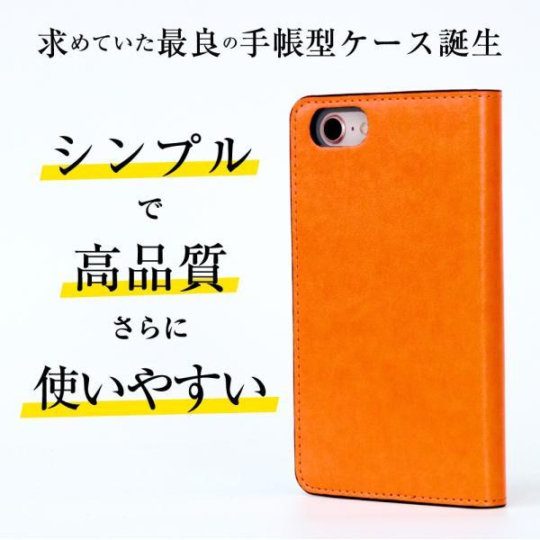 らくらくスマートフォン4 F-04J ケース 手帳型 スマホケース シンプル 使いやすい カバー 富士通 らくスマ 4 らくらくスマホ4 手帳ケース ベルトなし マグネット|dezicazi|02