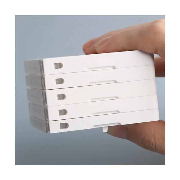 印鑑 親子判 住所印はんこ 個人事業主印 ゴム印 分割印 組み合わせ親子判 スタンプ  組合せ プラスチック親子判2枚セット:62mm×2枚(GN)|dhlelephant30531|02