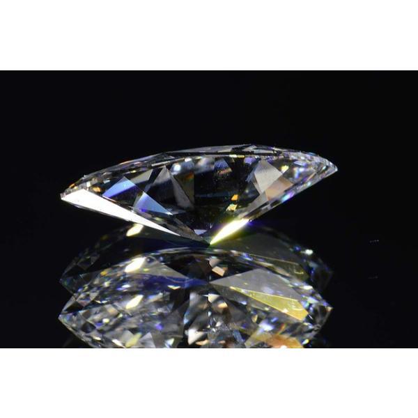 マーキースカットダイヤモンド0.4カラットEカラーフローレス最高品質 透き通った空の虹さん ダイヤ鑑定書GIA刻印つき diadia 04