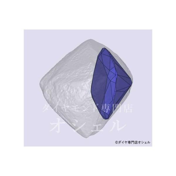 0.5カラット クッションカット ダイヤ Dカラー VS1 神秘的な輝きの蛍光性ストロングブルーちゃん diadia 06