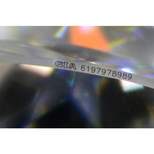 0.5カラット クッションカット ダイヤ Dカラー VS1 神秘的な輝きの蛍光性ストロングブルーちゃん diadia 07