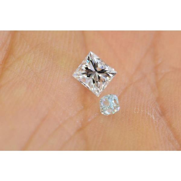 0,5カラットプリンセスカットダイヤモンドルースFカラーVS2 中央宝石研究所ソーティングつき|diadia|06