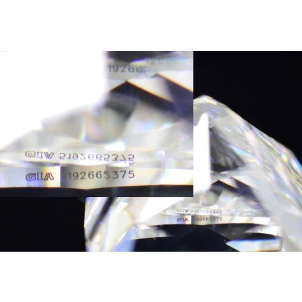 1カラットクッションカットダイヤモンドDカラーIF GIA鑑定書つき 透明感のある優しい輝きさん|diadia|09