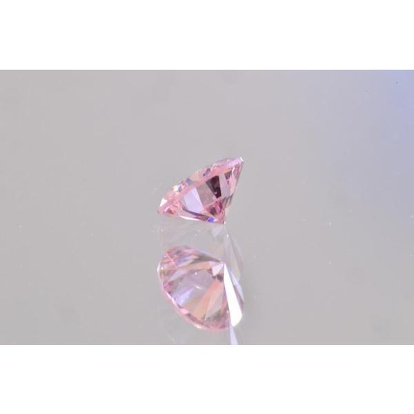 ファンシーピンクダイヤ VS1 ラウンド 0.07カラット ほぼ0.1カラット AGTソーティングつき ピンクダイヤモンド|diadia|03
