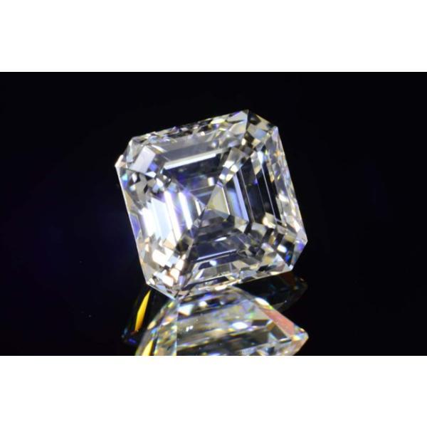 アッシャーカット ダイヤモンド Fカラー 0.5カラット VVS2 透明度高い証明写真つき ダイヤGIA鑑定書 刻印つき|diadia|02