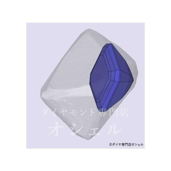 アッシャーカット ダイヤモンド Fカラー 0.5カラット VVS2 透明度高い証明写真つき ダイヤGIA鑑定書 刻印つき|diadia|06
