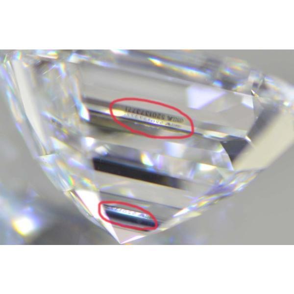 アッシャーカット ダイヤモンド Fカラー 0.5カラット VVS2 透明度高い証明写真つき ダイヤGIA鑑定書 刻印つき|diadia|07