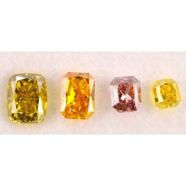 ハッピーカラー ダイヤBox!スクエア四角 ピンクダイヤモンド オレンジダイヤ イエローダイヤ|diadia
