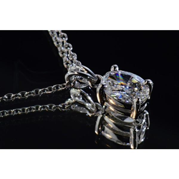0.3カラット オーバルカット ダイヤ一粒ネックレス 0.3ct Eカラー フローレス FL 最高品質ダイヤ うさ耳バチカンがアンティークで可愛いGIA鑑定書つき|diadia|02