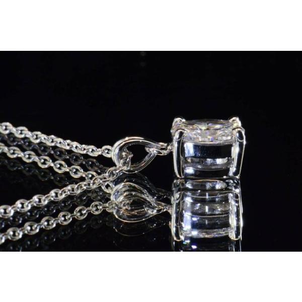 0.3カラット オーバルカット ダイヤ一粒ネックレス 0.3ct Eカラー フローレス FL 最高品質ダイヤ うさ耳バチカンがアンティークで可愛いGIA鑑定書つき|diadia|03