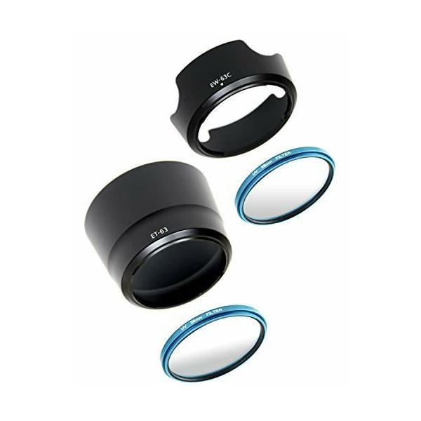 CanonEOSKissX10iX9iX10X9X8iX7iダブルズームレンズキット用互換レンズフードEW-63CET-6358