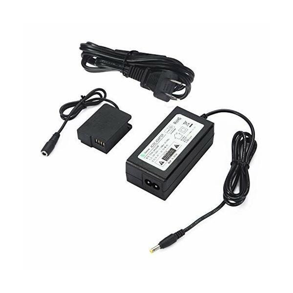 (PSE規格品) Gonine カメラAC アダプターキット DMW-AC8+ DMW-DCC8 純正代用 パナソニック(Panasonic)用 DMC-FZ200,FZ1000,