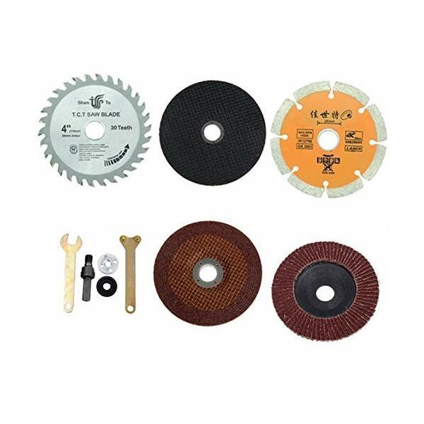 Batreetekロータリーブレードディスクグラインダー金属切削切断砥石研磨ディスクルーター工具レンチ金