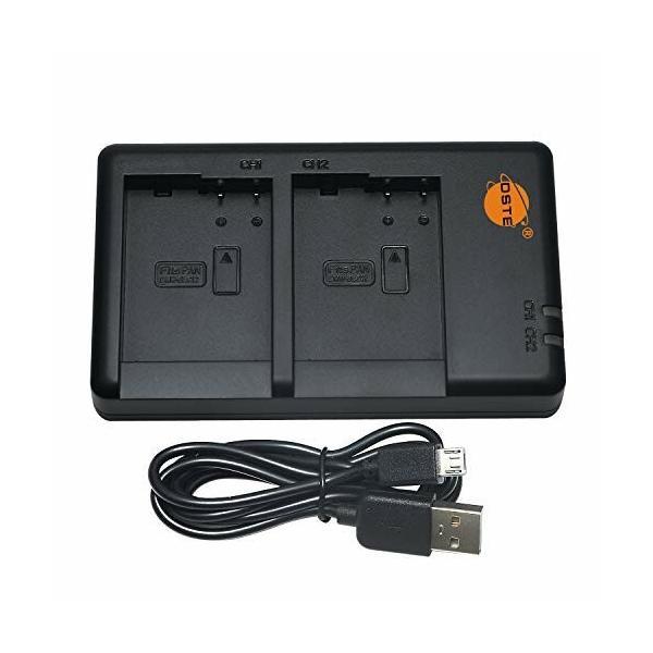 DSTE USBデュアルバッテリ充電器 急速充電 Panasonic DMW-BLC12 DMW-BLC12e DMW-BTC12 DMW-BLC12PP BP-DC12 BP-DC12U BP-DC12E 対応機種