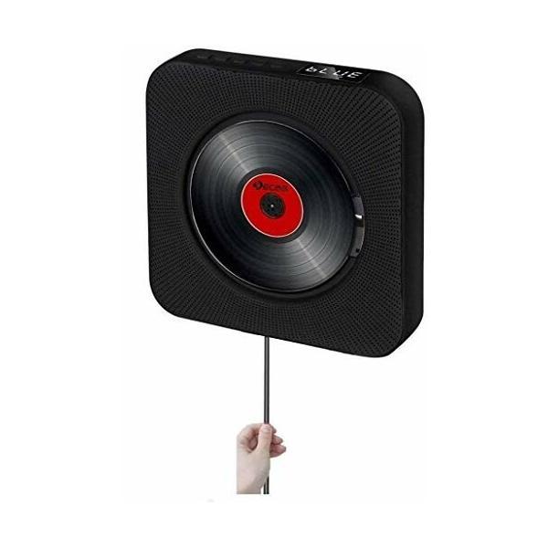 CDプレーヤー卓上&壁掛け式CDラジオポータブル小型Bluetooth/FM/USB/AUX対応1台多役内蔵リモコン付き日本語