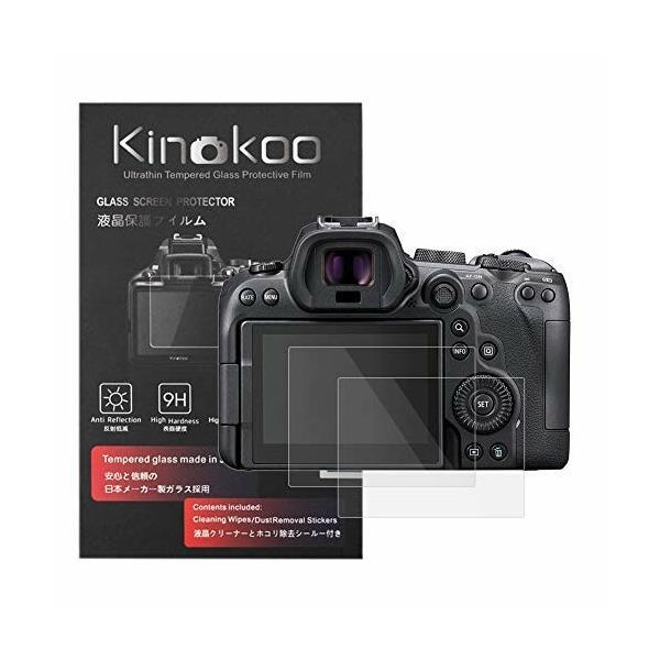 kinokoo 液晶保護フィルム CANONデジタルカメラ EOS R6専用 硬度9H 高透過率 耐指紋 気泡無し 強化ガラス 厚さ0.3mm 2