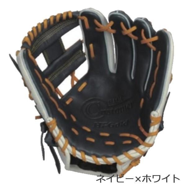 野球 ハイゴールド HI-GOLD ソフトボール用グラブ ベーシックシリーズBSG-8655ネイビー/ホワイト|diamond-sports|02