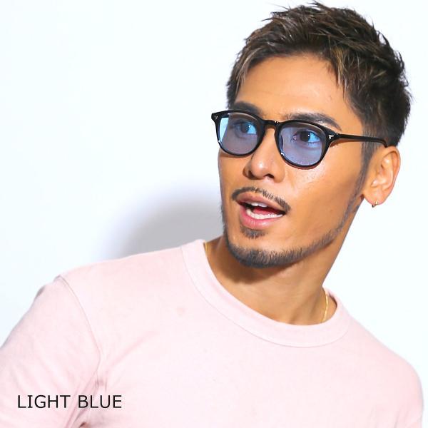 サングラス メンズ ブランド UVカット 紫外線カット 7JEWELRY ボストン サングラス ブラック フレーム ブルー グレー ピンク レンズ|diamonddust|06