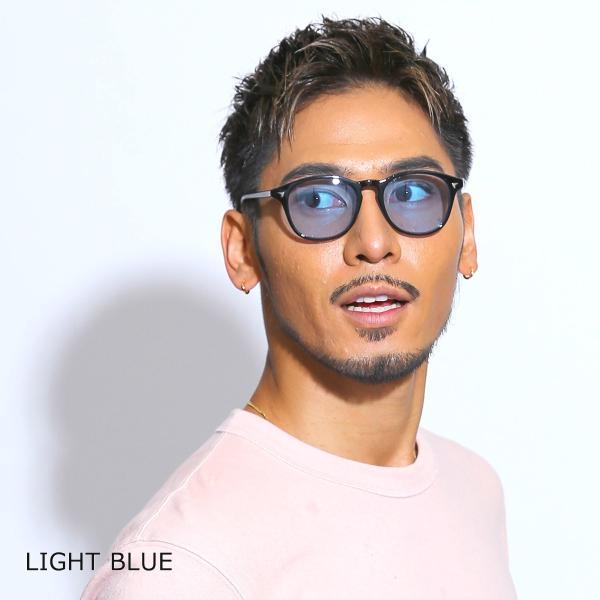 サングラス メンズ ブランド UVカット 紫外線カット 7JEWELRY ボストン サングラス ブラック フレーム ブルー グレー ピンク レンズ|diamonddust|07