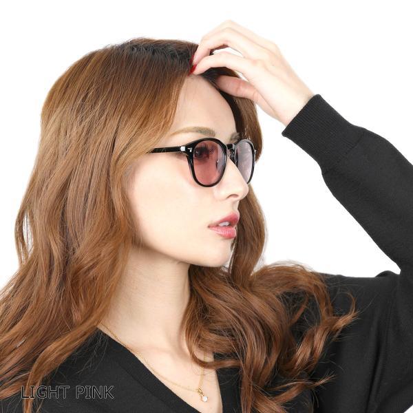 サングラス メンズ ブランド UVカット 紫外線カット 7JEWELRY ボストン サングラス ブラック フレーム ブルー グレー ピンク レンズ|diamonddust|09