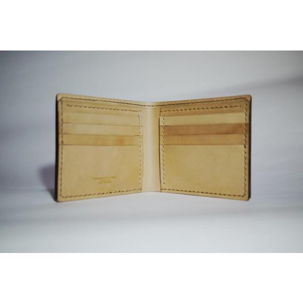 ダイモンドレザー 宮内産業コードバン 2つ折財布(カードタイプ)|diamondleather