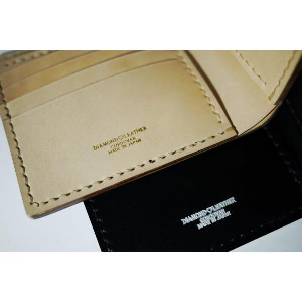 ダイモンドレザー 宮内産業コードバン 2つ折財布(カードタイプ)|diamondleather|05