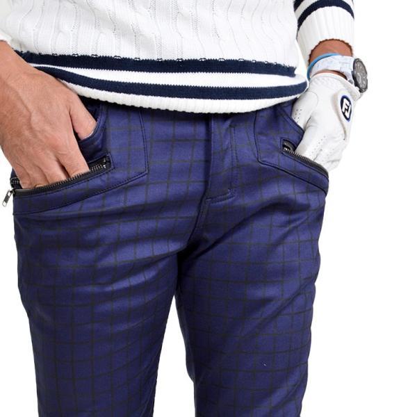 ゴルフウェア メンズ パンツ スリット ズボン 暖パン ゴルフパンツ ゴルフ ウエア 大きいサイズ ストレッチ 防寒 裏フリース 裏起毛 秋冬 秋 冬 2018 CG-160725|diana|04