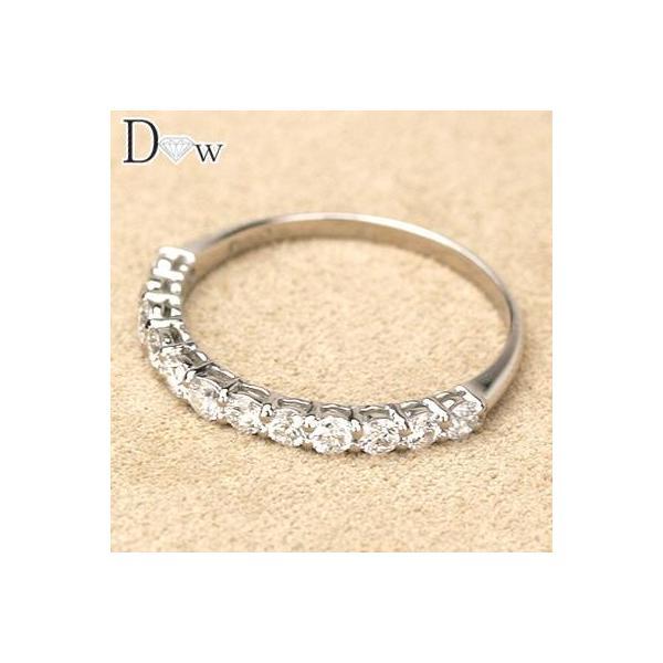 PTダイヤモンドリング 0.50ct  ハーフエタニティータイプ  品質保証書付 ダイヤモンド  輝き厳選保証 diaw 02
