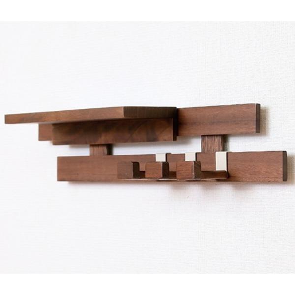 壁に付けられるすのこ 壁面収納 パッケージセット1 アレンジ〔ダークブラウン〕完成品〔代引不可〕