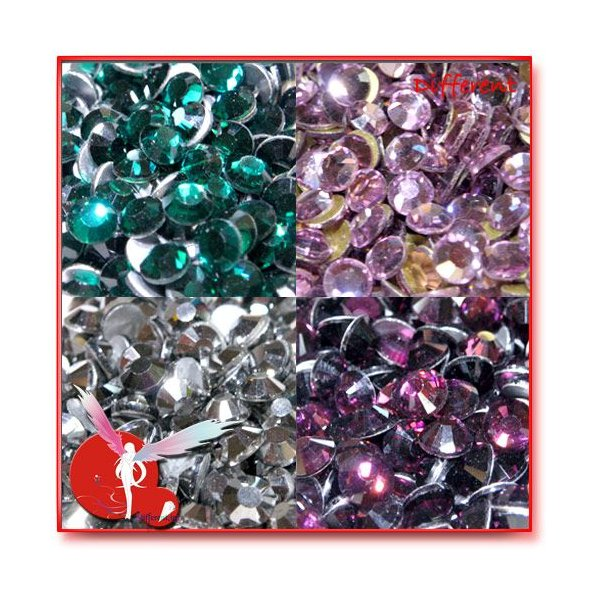 高品質 ガラス製ストーン SS16 (約3.8mm) 27Color 50粒|different|04