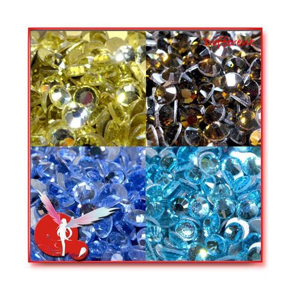 高品質 ガラス製ストーン SS16 (約3.8mm) 27Color 50粒|different|06