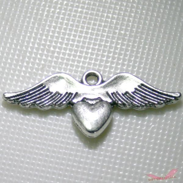 天使の羽とハートのチャームパーツ|different|02