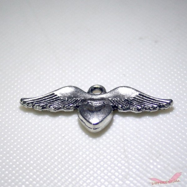 天使の羽とハートのチャームパーツ|different|03