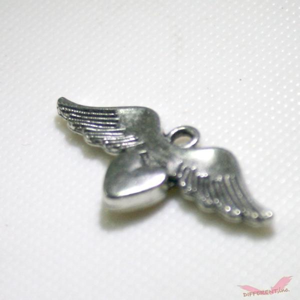 天使の羽とハートのチャームパーツ|different|05