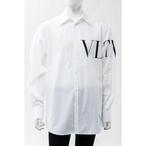ヴァレンティノ シャツ カッターシャツ ワイシャツ 長袖 メンズ VV3ABA95MBK ホワイト Valentino 2021年春夏新作