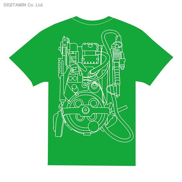 派手なバックプリントのゴーストバスターズTシャツ