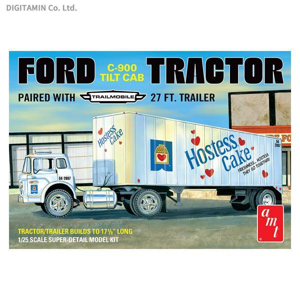AMT1/25フォードC-900チルトキャブトラクタートラックトレーラホステスケーキプラモデルAMT1221(ZS83476)