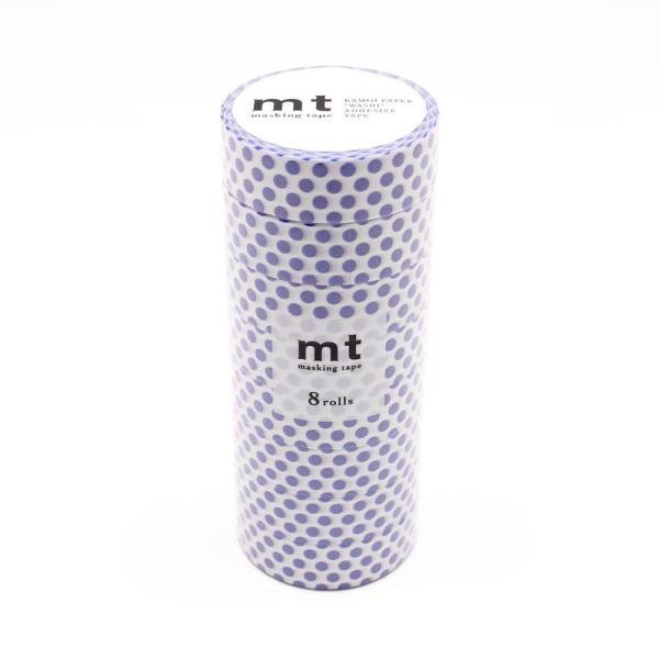 mt マスキングテープ 8P ドット・ナイトブルー MT08D361