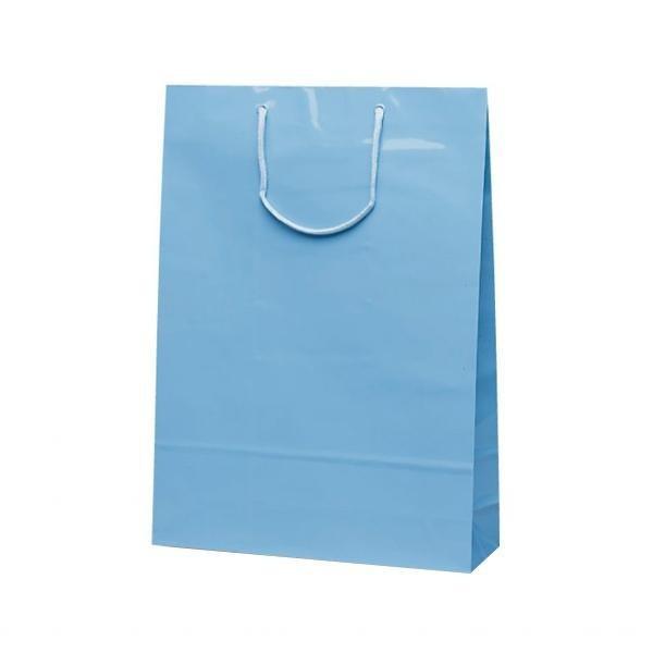 人気急上昇  エクセルバッグ 希少 手提袋 330×100×450mm 50枚 ブルー 1106